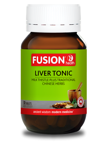 Fusion Liver Tonic 30 TABLETS With Milk Thistle, Traditionally Used As A Liver Tonic In Western Herbal Medicine