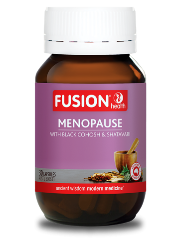Fusion Menopause TRADITIONALLY USED TO RELIEVE MENOPAUSAL SYMPTONS 60 CAPS