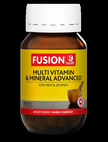 Fusion Multi-Vitamin & Mineral Advanced 30 Tabs
