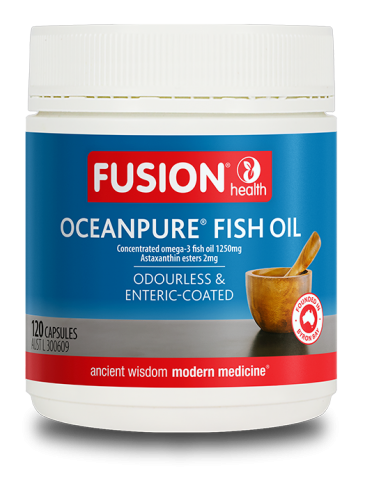 FUSION OCEANPURE FISH OIL ODOURLESS & ENTERIC COATED 120 Capsules