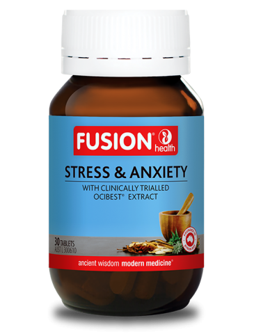 Fusion Stress And Anxiety With OciBest®, An Extract Of Holy Basil To Help Relieve Stress-related Symptoms Like Mild Anxiety
