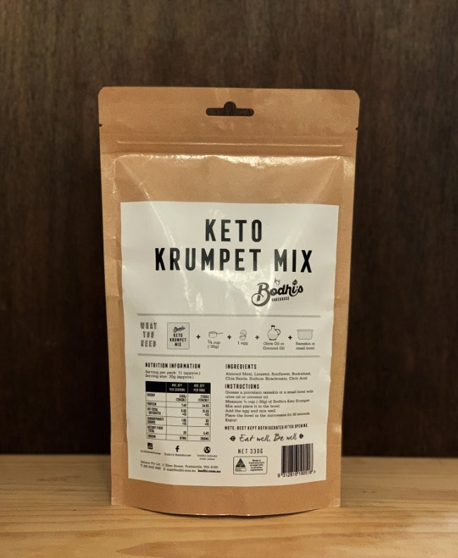 Bodhi's Bakehouse Keto Krumpet Mix 330gm