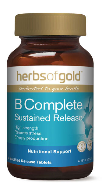 Herbs Of Gold B Complete Sustained Release 60 TABS HIGH STRENGTH, RELIEVES STRESS