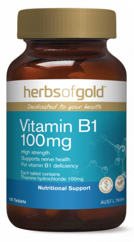 Herbs Of Gold B 1 100mg Support Nervous System Health