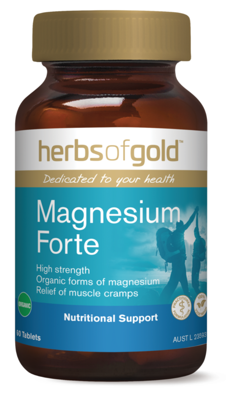 Herbs Of Gold Magnesium Forte 60 Tablets Highly Bioavailable Organic Magnesium