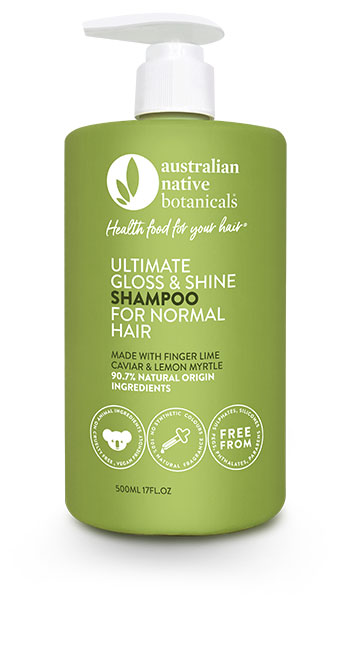 Australian Native Botanicals Ultimate Gloss & Shine Shampoo For Normal Hair 500ml