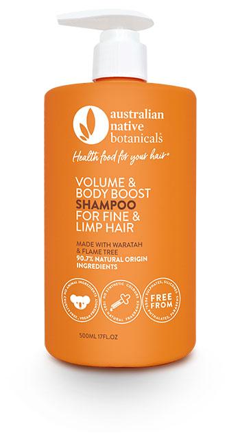Australian Native Botanicals Volume & Body Boost Shampoo For Fine & Limp Hair 500ml