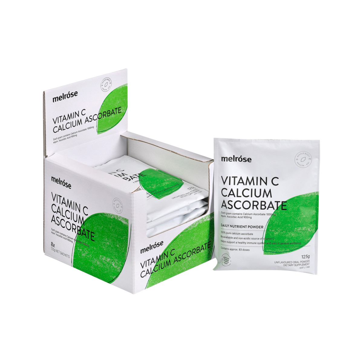 Melrose Vitamin C Calcium Ascorbate 125g