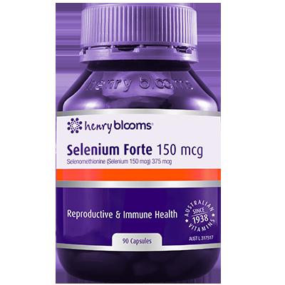 Henry Blooms Selenium Forte 150 Mcg 90 Capsules