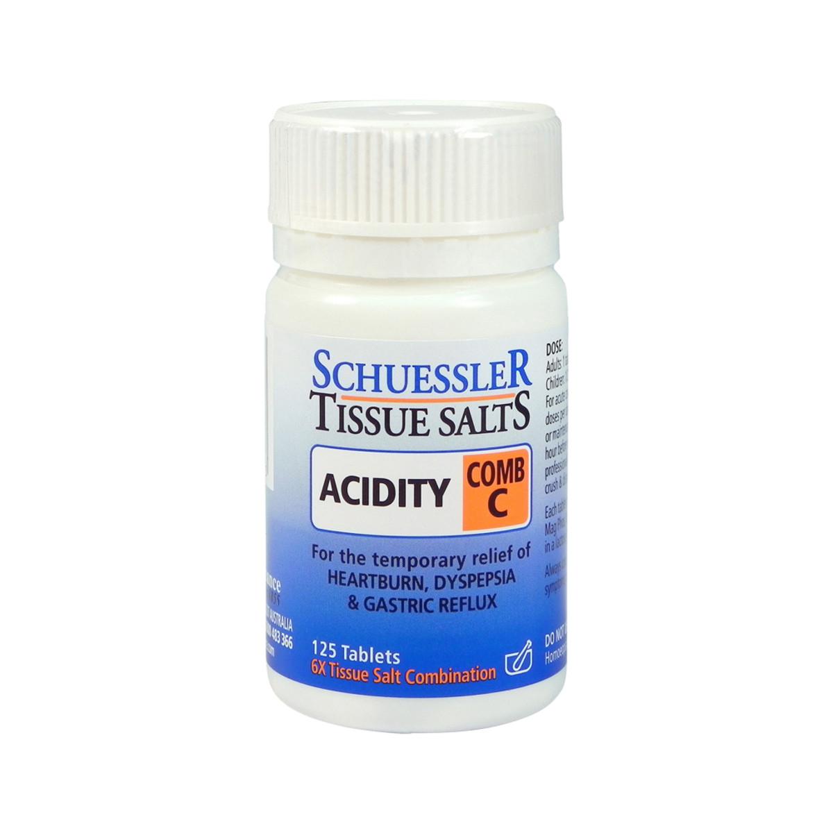 Schuessler Tissue Salts Comb C (Acidity) 125t