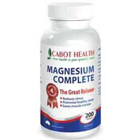 Cabot Health Magnesium Complete 200 Tabs