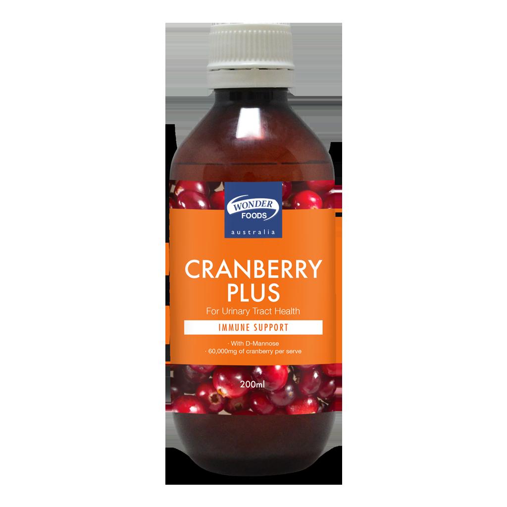 Wonderfoods Cranberry Plus 200 Ml