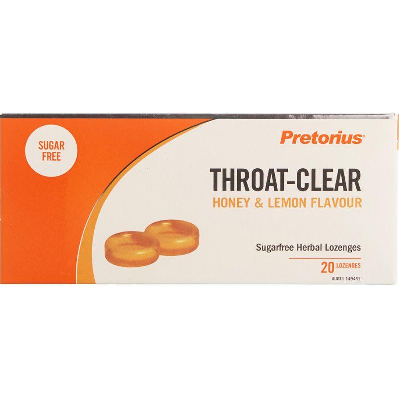 Pretorius Throat Clear Honey And Lemon 20