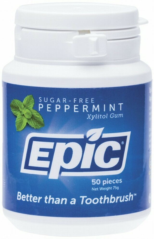 Epic Xylitol Chewing Gum Peppermint 50 Pieces