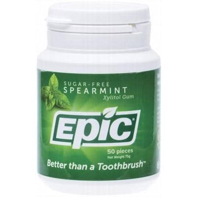 Epic Xylitol Chewing Gum Spearmint 50 Pieces