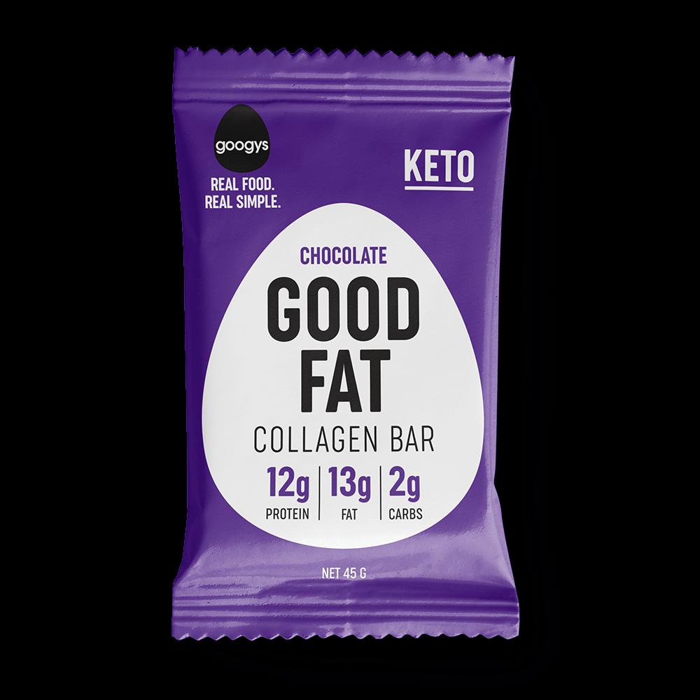 Googys Good Fat Collagen Bar Chocolate 45g