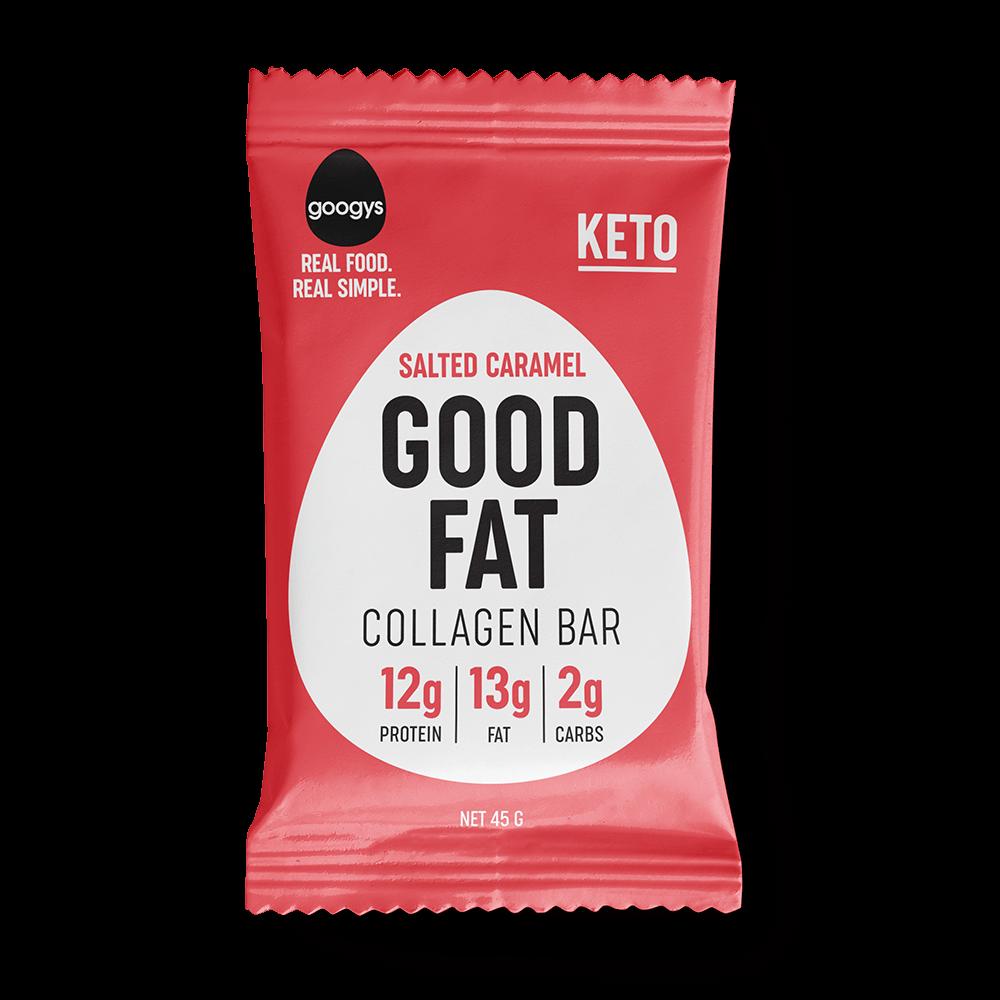Googys Good Fat Collagen Bar Salted Caramel 45g