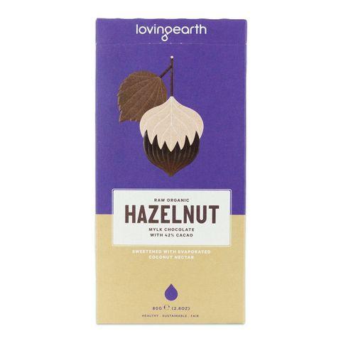Loving Earth Hazelnut Chocolate Bar 80g