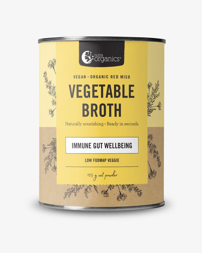 Nutra Organics Vegetable Broth Low Fodmap Veggie 125gm
