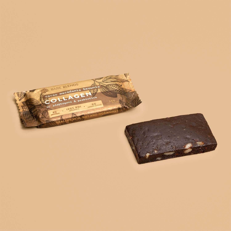 Bare Blends Cacao Macadamia Brownie Bar 50g